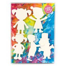 Personen koelkastmagneten om zelf in te kleuren, set van 5