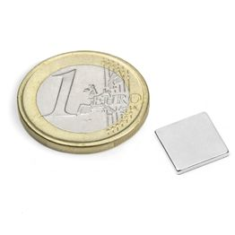 Q-10-10-1.2-N52N Bloque magnético 10 x 10 x 1,2 mm, neodimio, N52, niquelado