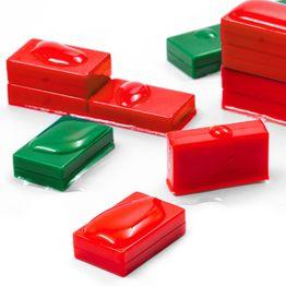 M-BLOCK-01 Quadermagnete mit Kunststoffhülle, wasserdicht, 5er-Set, in verschiedenen Farben