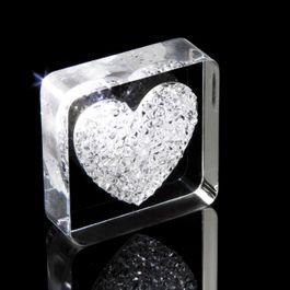 Diamond Heart aimant pour réfrigérateur cœur, avec des cristaux Swarovski
