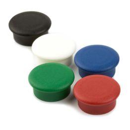 """Bordmagneten """"Boston Xtra Mini"""" rond magneetbord magneten neodymium, Ø 20 mm, set van 10, in verschillende kleuren"""