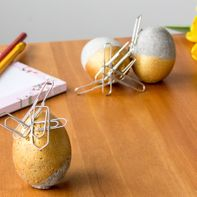 Cement eggs with magnetic appeal