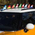 Magneetvlag voor de auto