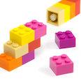 met ingeperste magneten, kleurig geassorteerd, set van 12