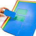 voor whiteboards & planborden, 10 symbolen per A4-blad, in verschillende kleuren