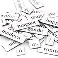 Woorden, lettergrepen en leestekens, 510 delen, in verschillende talen verkrijgbaar