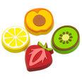 Decoratiemagneten in de vorm van vruchten, Set van 4 stuks