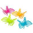 Decoratieve magneten in de vorm van vlinders, Set van 4 stuks