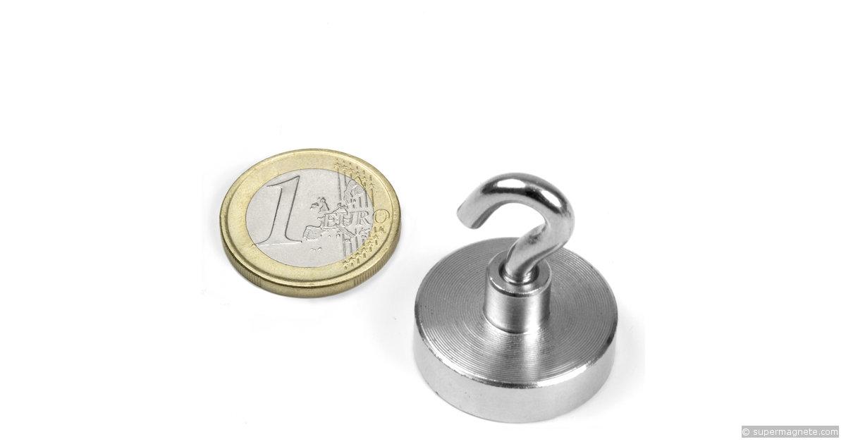 potmagneet met haak ftn 25 houdkracht ca 18 kg neodymium magneten. Black Bedroom Furniture Sets. Home Design Ideas