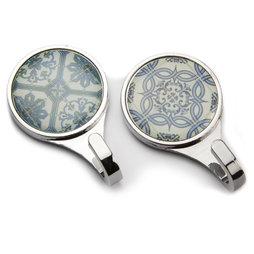 LIV-70, Magnetische haken Azulejos, magnetische haakjes met tegelpatroon, set van 2