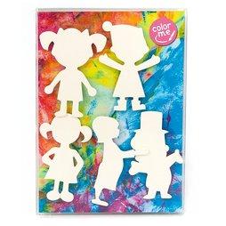 LIV-77, Personen, koelkastmagneten om zelf in te kleuren, set van 5