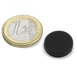 S-15-03-R, schijfmagneet met rubber coating Ø 16,8 mm, Dikte 4,4 mm, neodymium, N45