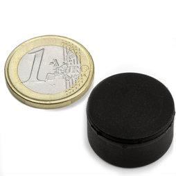 S-20-10-R, Schijfmagneet Ø 22 mm, dikte 11,4 mm, neodymium, N42, rubber gecoat