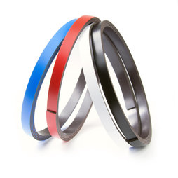 MT-07, Gekleurd magneetband 7 mm, om zelf te beschrijven en op maat te knippen, rollen à 1 m