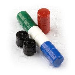 M-DISC-01, Schijfmagneten met kunststof ommanteling Ø 9,4 mm, 10 stuks per set, div. kleuren