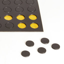 MS-TAKKI-04, Takkis rond 10 mm, zelfklevende magneetplaatjes, 60 plaatjes per vel