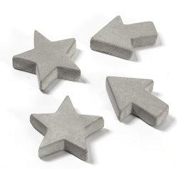 LIV-97, Aimants béton, en trois formes différentes, lot de 4