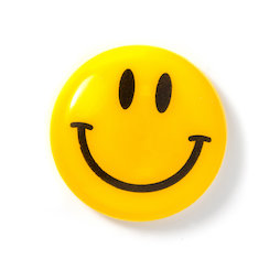 LIV-124, Smiley 'Boy', geplastificeerd, geel