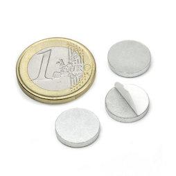 PAS-13, Metalen schijfje zelfklevend Ø 13 mm, als tegenstuk voor magneten, geen magneet!