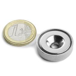 CSN-25, Imán en recipiente avellanado Ø 25 mm, fza. sujec. aprox. 19 kg