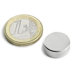 S-15-05-N, Disc magnet Ø 15 mm, height 5 mm, neodymium, N42, nickel-plated