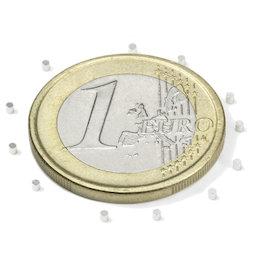 S-01-01-N, Schijfmagneet Ø 1 mm, hoogte 1 mm, neodymium, N45, vernikkeld