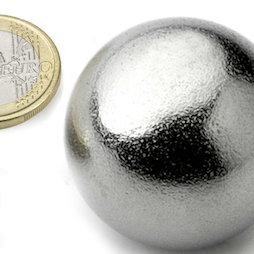 K-40-C, Kogelmagneet Ø 40 mm, neodymium, N40, verchroomd