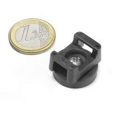 CMN-22, potmagneet met rubber coating, voor kabelmontage, Ø 22 mm