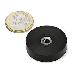 ITNG-32, potmagneet met rubber coating, met inwendig schroefdraad M6, Ø 36 mm