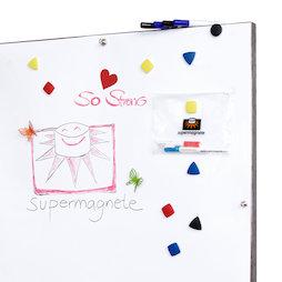 FS-100500MWBM, Whiteboardfolie ferromagnetisch, ideale hechtondergrond voor magneten, rol van 1 x 5 m