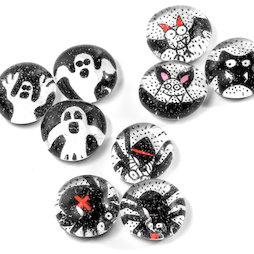LIV-129, Halloween, Handgemaakte koelkastmagneten, set van 3