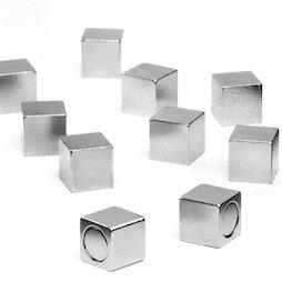 M-OF-W08, Kantoormagneten met metalen behuizing, neodymium magneten, zijdelengte 8mm