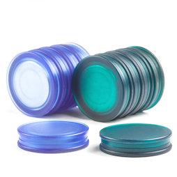 M-OF-BRD25, Bordmagneten rond, neodymium magneten met kunststof kapje, aan beide kanten vasthoudend