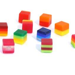 AG-02, Color Cube, decoratieve magneten kleurig, van plexiglas