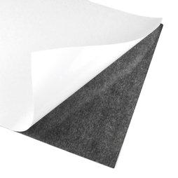MS-A4-STIC, Zelfklevend magneetfolie, A4-formaat, om te knippen en op te plakken, grijs-zwart