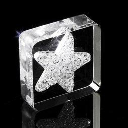 LIV-40, Diamond Star, aimant de réfrigérateur étoile, avec des cristaux Swarovski