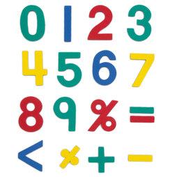 M-38/num, Magneetcijfers, ca. 100 cijfers & rekentekens, van EVA-schuim, 4 kleuren gemengd