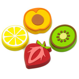 LIV-50, Fruity, aimants décoratifs en forme de fruits, lot de 4
