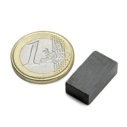 FE-Q-18-10-06, Blokmagneet 18 x 10 x 6 mm, ferriet, Y35, zonder coating
