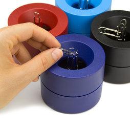 M-CLIP, Papercliphouder magnetisch, met sterke kernmagneet, van kunststof, in verschillende kleuren